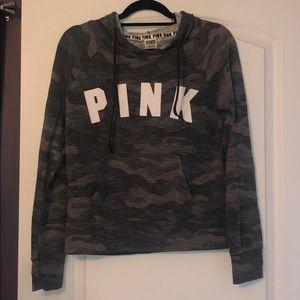 victorias secret pink camo hoodie